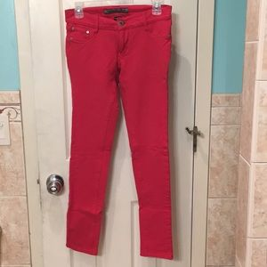 Red jeggings, size large